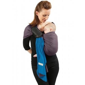 JPMBB sling, Bleu Canard/Marron