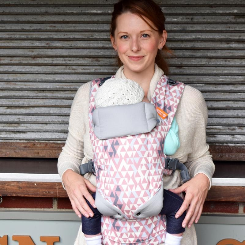 Beco Gemini Super Baby Carrier 4 In 1 Geo Dusty Pink