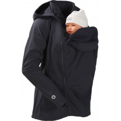 Softshell Babywearing 3in1 Jacket (MAMALILA, black)